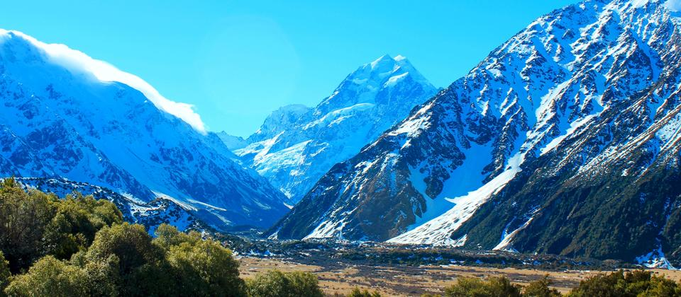 Aoraki / Mt Cook - view from the Sir Edmund Hillary Alpine Centre
