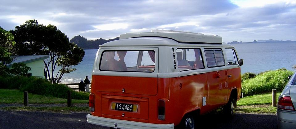 1975 VW at Hahei Beach NZ