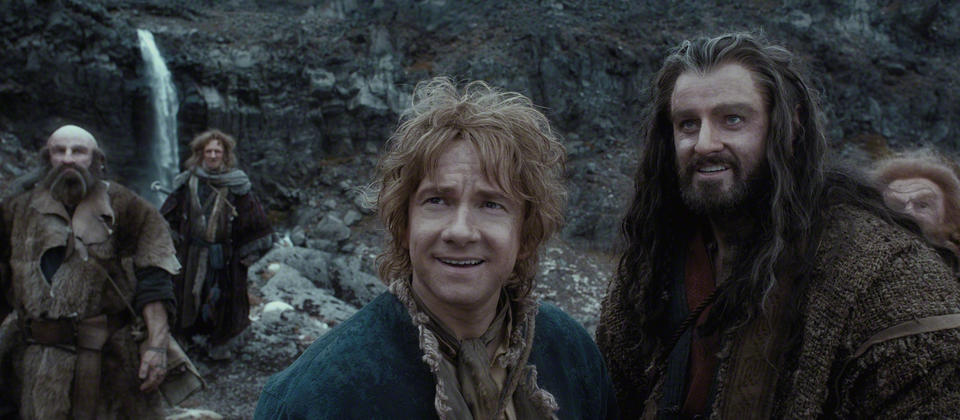 Bilbo, Thorin and the company as seen in The Hobbit