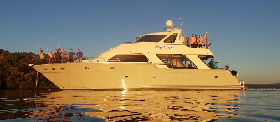Regal Flyer, the most luxurious charter yacht on Lake Taupō.