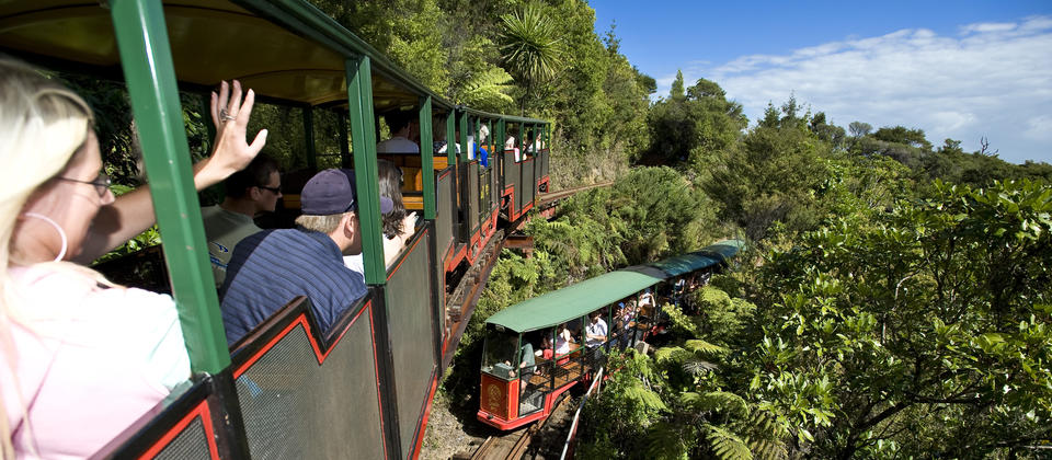 The Famous Driving Creek Railway and Pottery. Just a short drive from your Accommodation at Coromandel TOP 10 Holiday Park