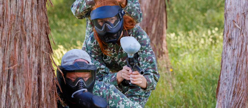 Paintball Action at Cable Bay Adventure Park
