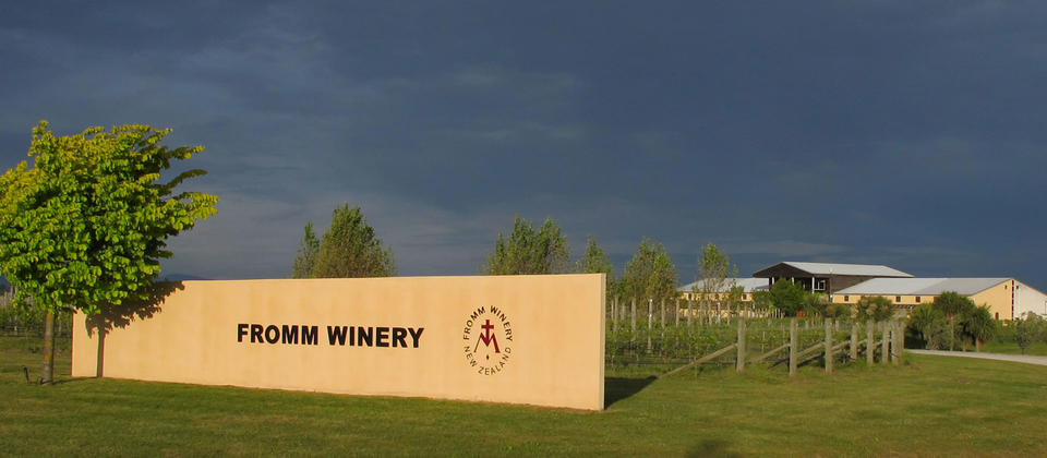Entrance to the FROMM WINERY