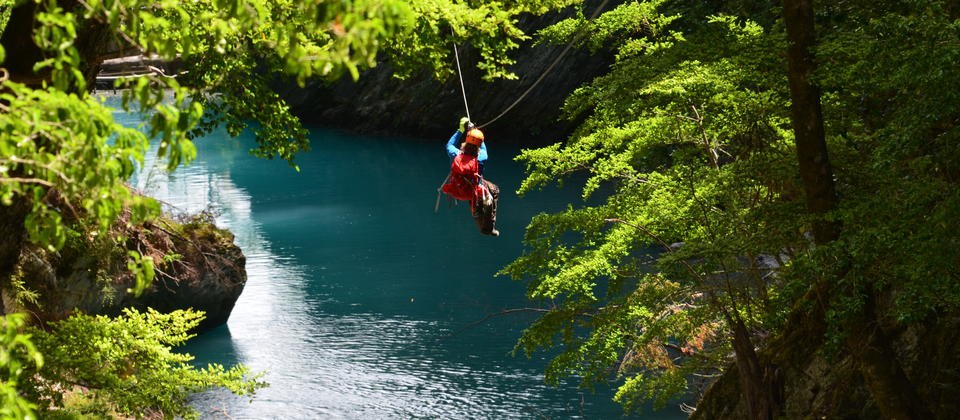 Ziplining the Blue Lagoon