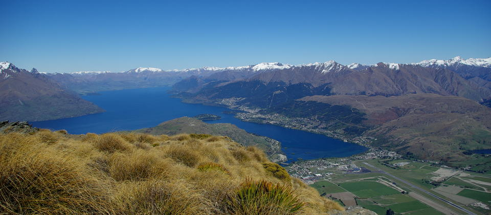 Beautiful views of Queenstown from The Remarkables