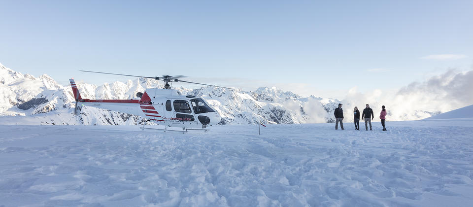 Snow landing - great photo opportunity