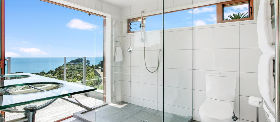 Master en-suite with a shower