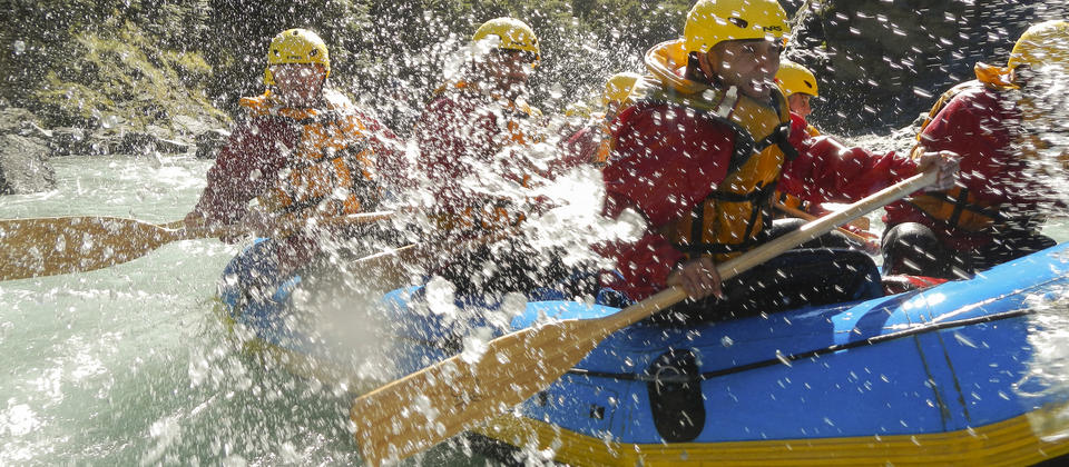 Splashes and fun on the Shotover River