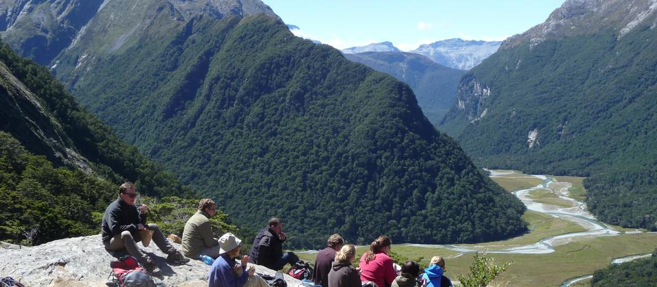Lunch at the Routeburn Falls