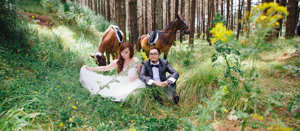 Queenstown Horse Pre Wedding Photo