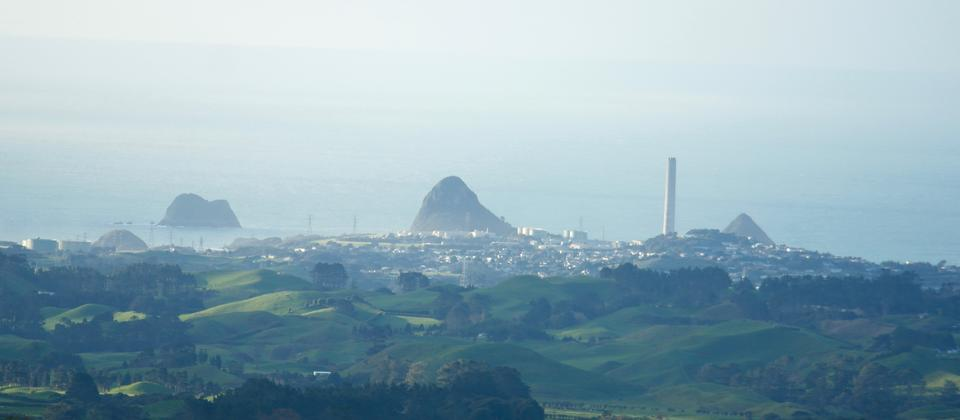 View of New Plymouth from Kereru Rest