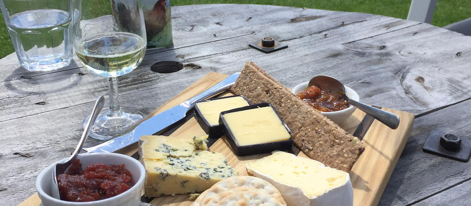 Option to add on a winery Cheeseplatter