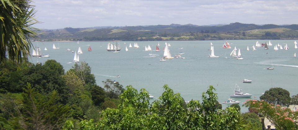 View towards Waitangi during the Tallship race