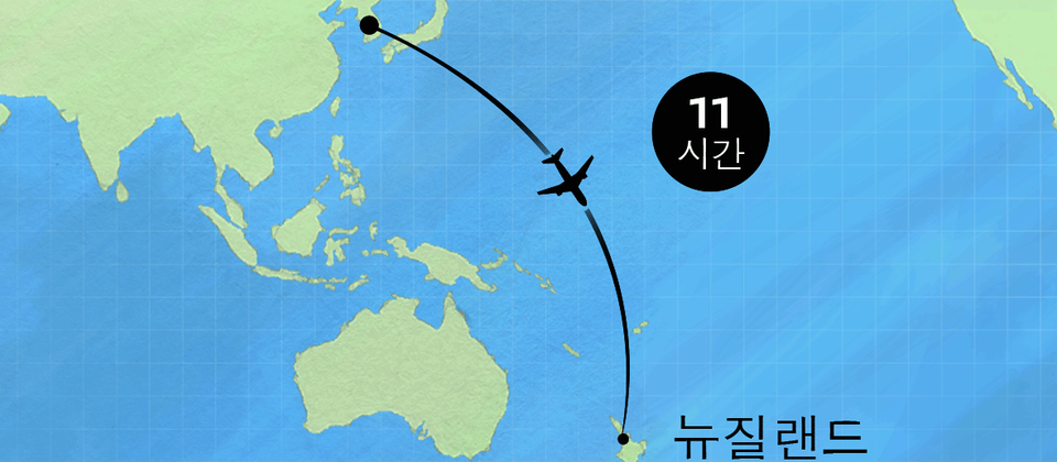Flight map Korea - mobile
