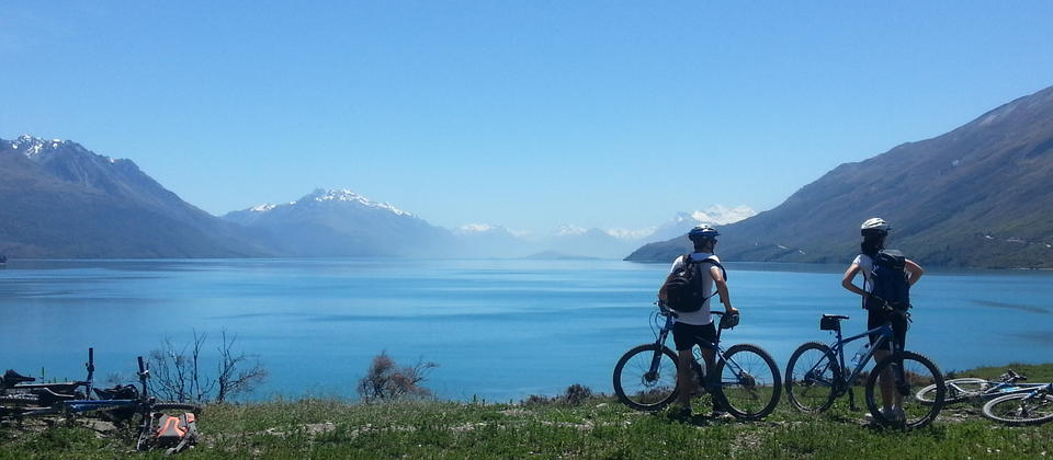 Mountain biking near Queenstown