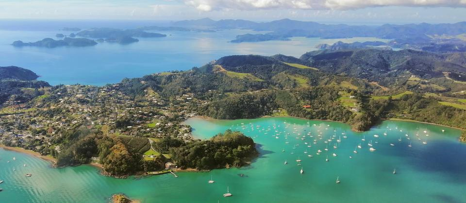 Bird's view of the Bay of Islands