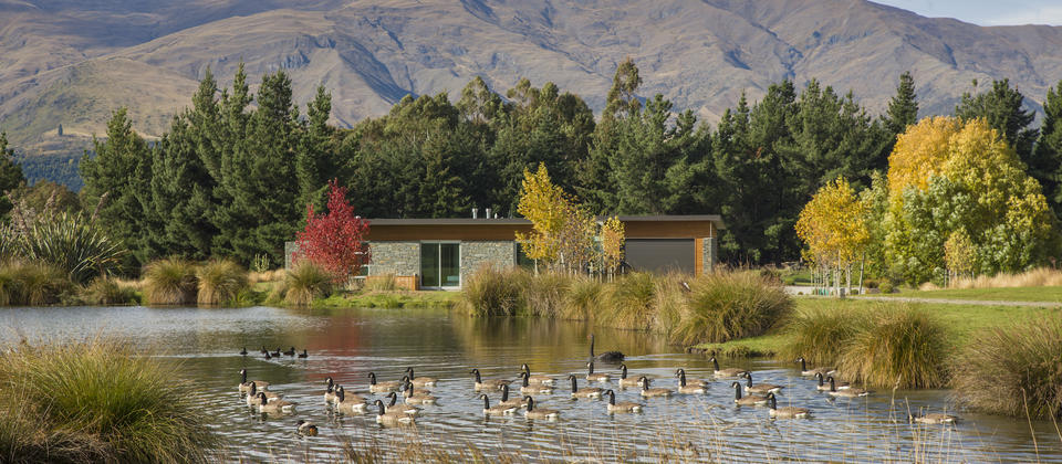 Mountain views and private wetlands