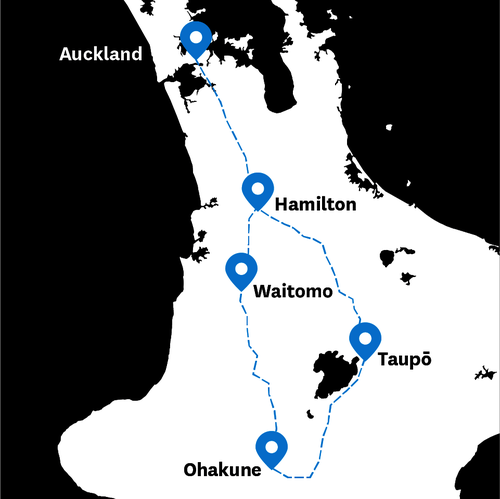 New Zealand Highway Map.Getting Around The Volcanic Loop Highway New Zealand