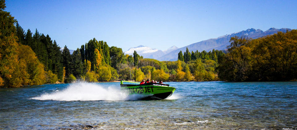 Jet Boat Lake Wanaka and Clutha River