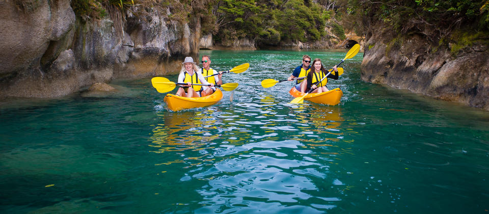 Kayaking is on option on our Best Abel Tasman Day trip