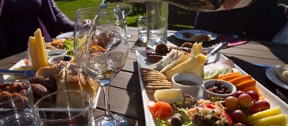 Enjoy a lovely platter with your favourite glass of wine