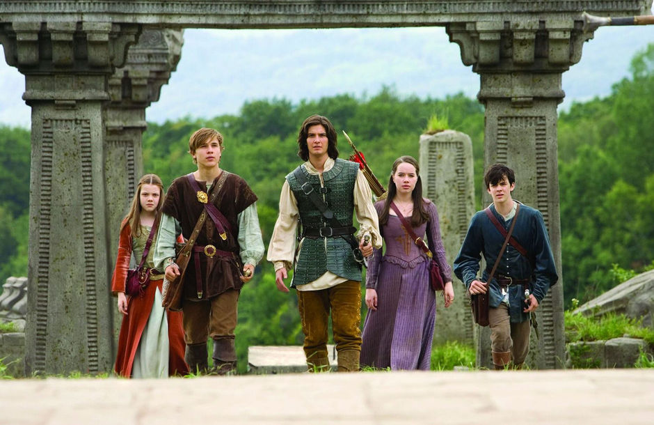 Cast from filming of Prince Caspian.