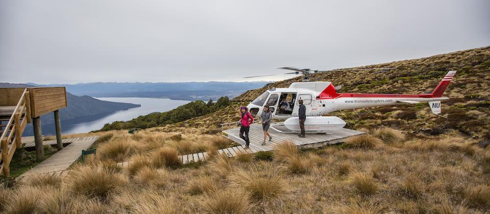 Landing at Luxmore Hut on the Kepler Track