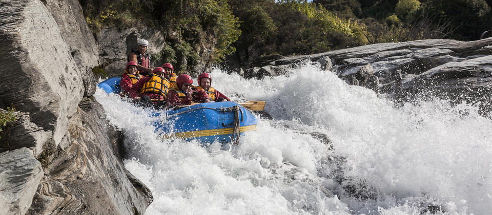 Rafting on the Shotover River