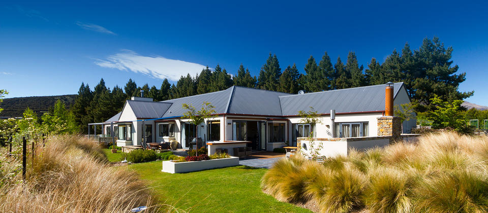 We are located on a fabulous 2 acre site in Wanaka with extensive native gardens and excellent alpine views.