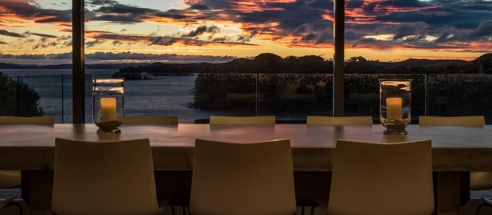 Sunset from the dining area
