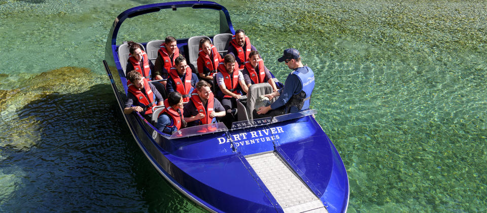 Dart River Adventures takes customers deep into the Mt Aspiring national Park exploring side streams and forested pools as we travel.