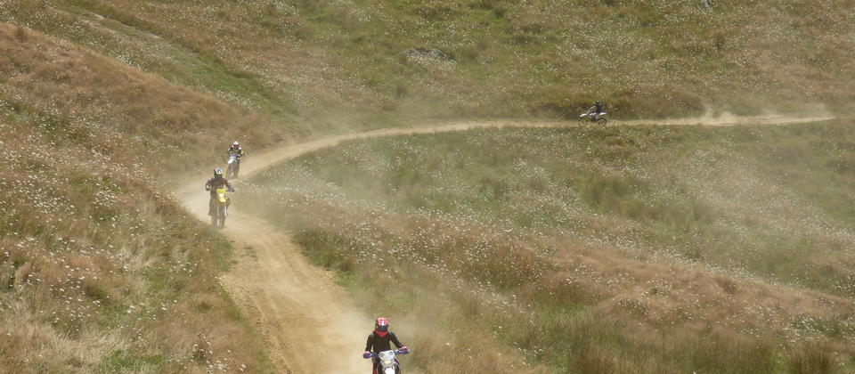 Thundercross tracks in the summer