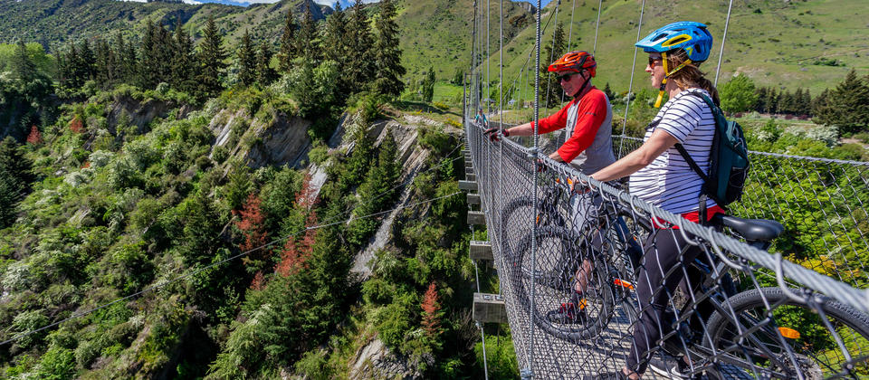 Queenstown Trail biking suspension bridges