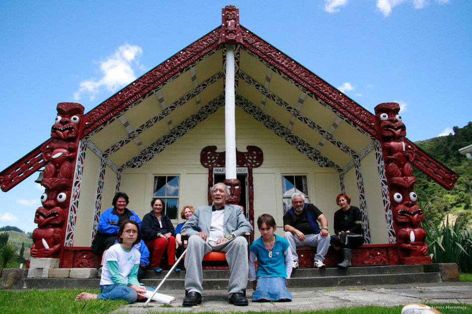 Four generations on their marae