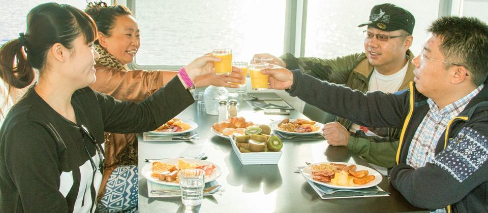 Breakfast - Lunch or Dinner cruise options