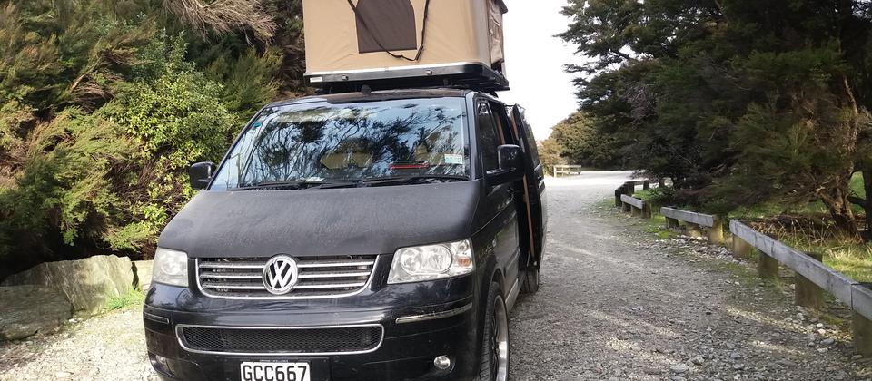 VW T5 Business at Haast South Island NZ