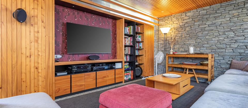 Media room with Home Theatre, SkyTV, Movie Collection & more