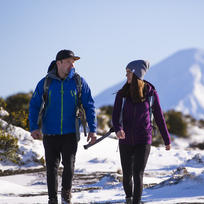Winter walking in Tongariro National Park