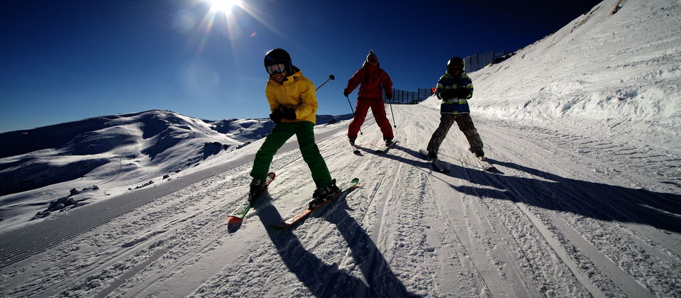 Skiing at Cardrona, near Wanaka