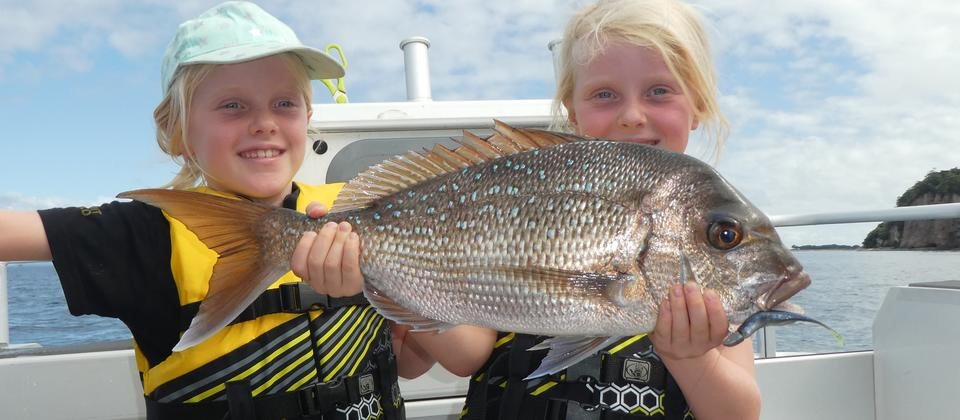 Great catch! Children are welcome on our charters