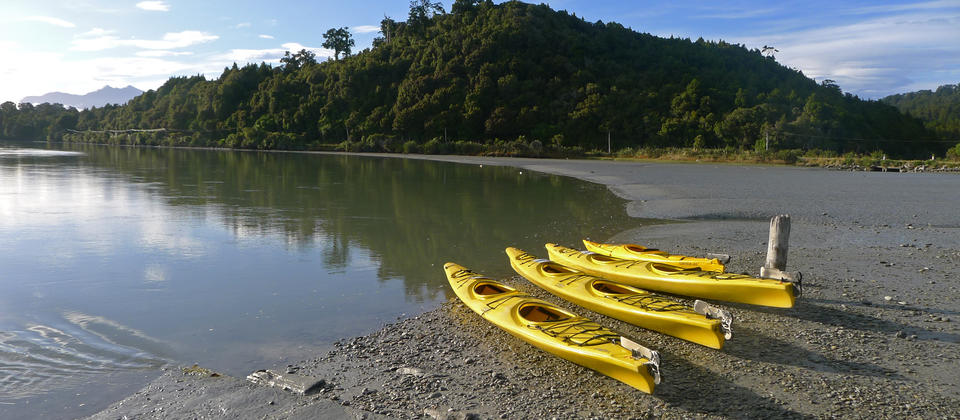 Try an optional kayak at Okarito