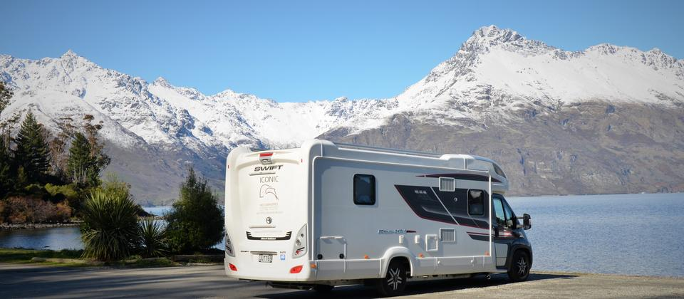 Pull over in your luxury motorhome and rest awhile whilst enjoying yet another stunning view of New Zealand