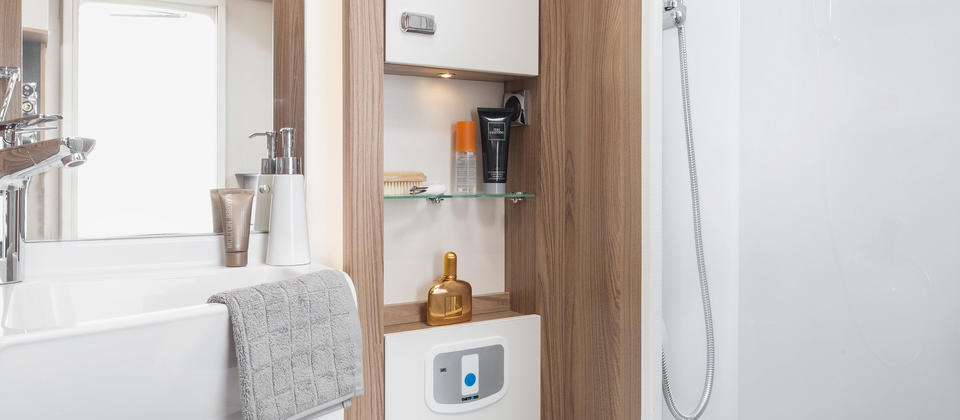 All Iconic Motorhomes have Luxury shower, toilet and Vanity area's