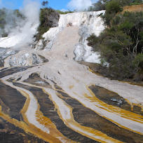 Orakei Korako's colourful geothermal terraces are a highlight.