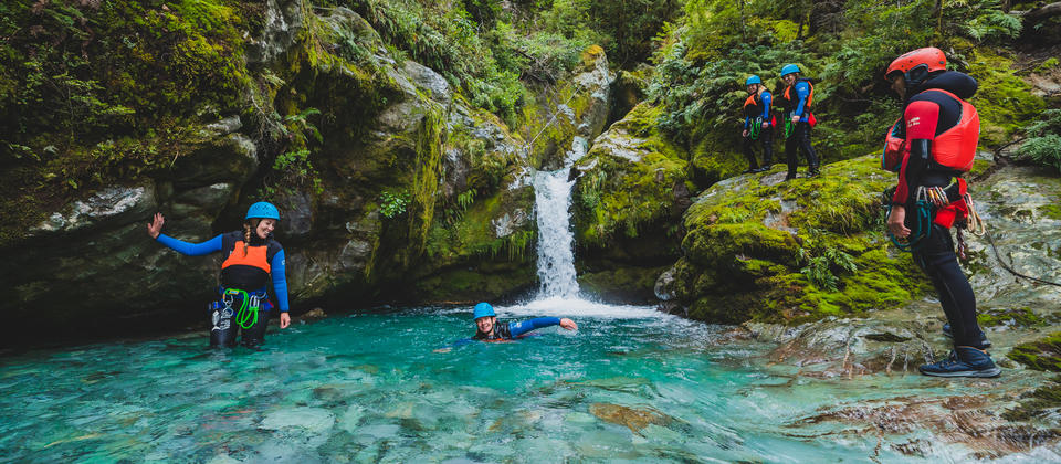 Full Day Canyoning Routeburn - swimming.jpg
