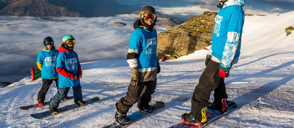 The EA Crew training at Coronet Peak, Queenstown