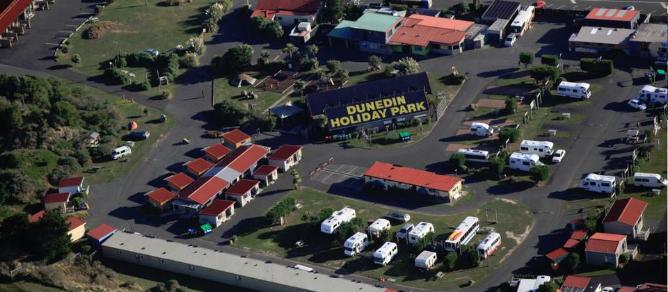 Dunedin Holiday Park, Aerial View