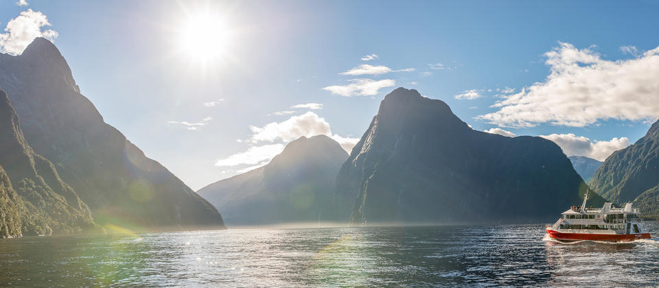 Get up close and personal with Milford Sound's pristine environment on a cruise.