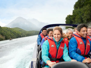Jet-boating on the Dart River