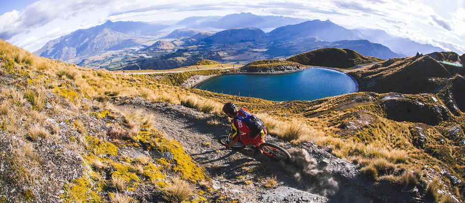 Featuring tracks such as Rude Rock, Coronet Peak is fast becoming one of the central hubs for Queenstown mountain biking.